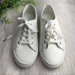 Ralph Lauren Jolie white leather sneakers